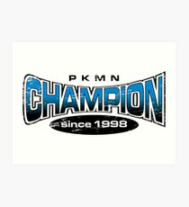 Pokemon Champion_Blue Art Print