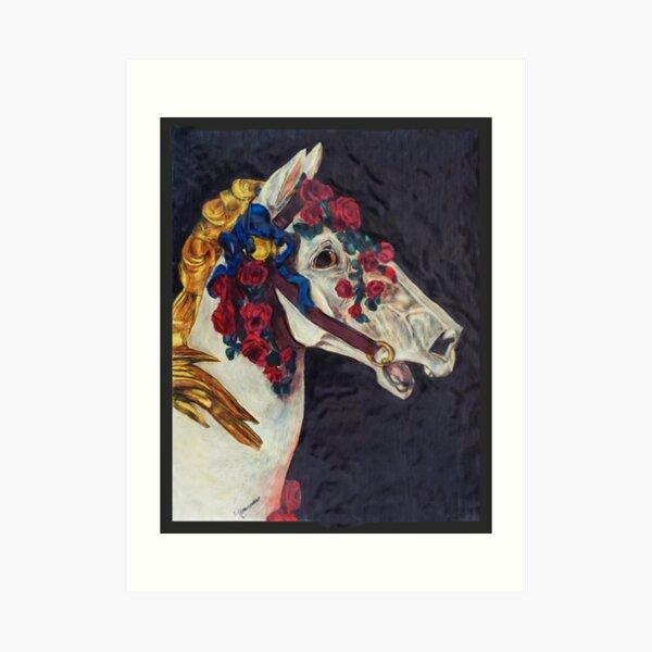 The Rose Horse Art Print