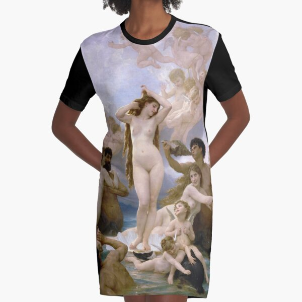 The Birth of Venus by  William-Adolphe Bouguereau Graphic T-Shirt Dress