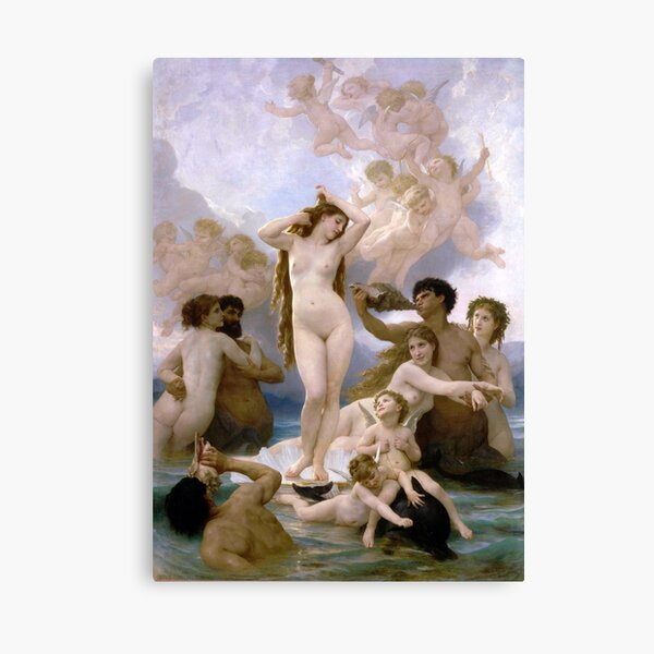 The Birth of Venus by  William-Adolphe Bouguereau Canvas Print