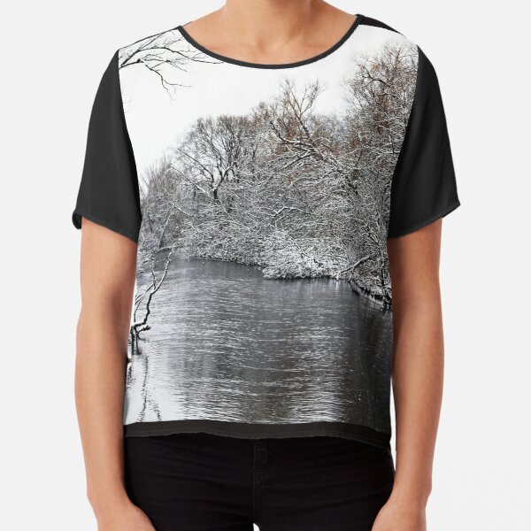 Winter On The Speed River Chiffon Top