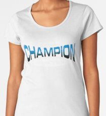 Pokemon Champion_Blue_DarkBG Women's Premium T-Shirt