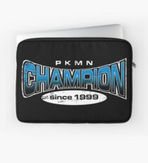 Pokemon Champion_Blue_DarkBG Laptop Sleeve