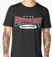 Pokemon Champion_Red_DarkBG Men's Premium T-Shirt