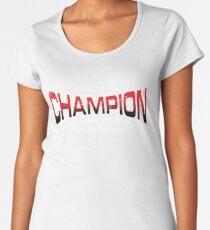 Pokemon Champion_Red_DarkBG Women's Premium T-Shirt