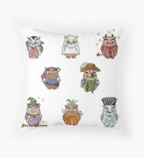 Costumed Halloween Owls  Floor Pillow