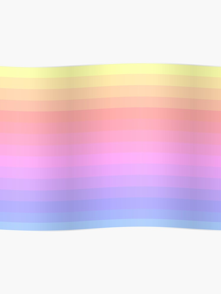 Pastel Sunset Gradient Poster By Grayground Redbubble