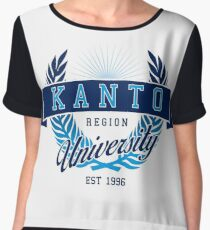 Kanto Region University Women's Chiffon Top