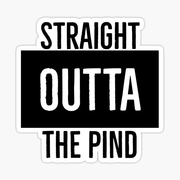 Straight Outta the Pind Sticker