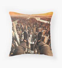 flying over manhattan Floor Pillow