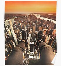 flying over manhattan Poster