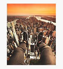 flying over manhattan Photographic Print