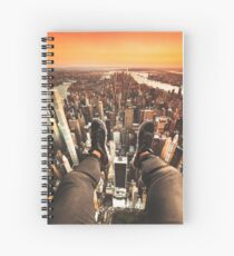 flying over manhattan Spiral Notebook