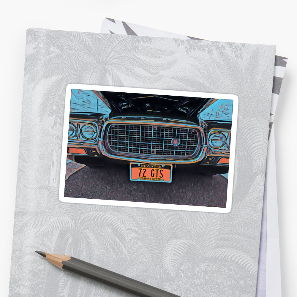 1972 Ford Gran Torino Sport Fastback Stickers By Rtcart Redbubble 1975