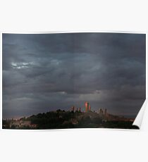 San Gimignano in Sunset Poster