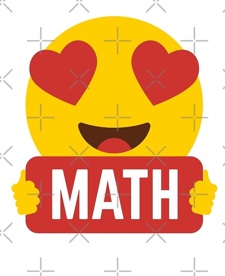 """Ich liebe MATHETISCHE MATHE Herz Augen Emoji Emoticon Lustige MATH MATHETE  MATHEMATIK HEMD Spieler Graphic Tee T-Shirt"""" iPad-Hülle & Skin von DesIndie    Redbubble"""