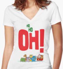 OoooH! Santa Women's Fitted V-Neck T-Shirt