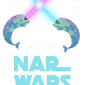 Funny Parody Narwars Narwhal Narwals Nerdy Classics Space OCEAN graphic (Unicorn of the Sea) by DesIndie