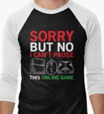 Online Game Funny Video Gamer T-shirt Men's Baseball ¾ T-Shirt