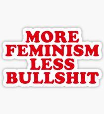 Pegatina Más feminismo, menos tonterías