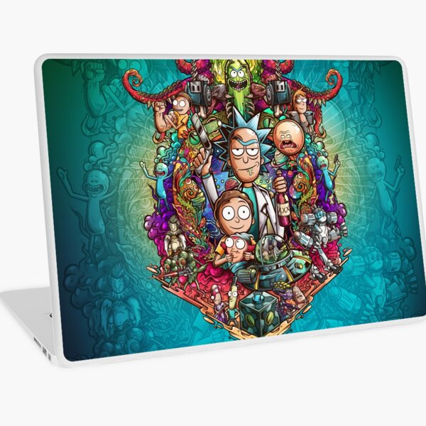 Buckle Up Morty! Laptop Skin