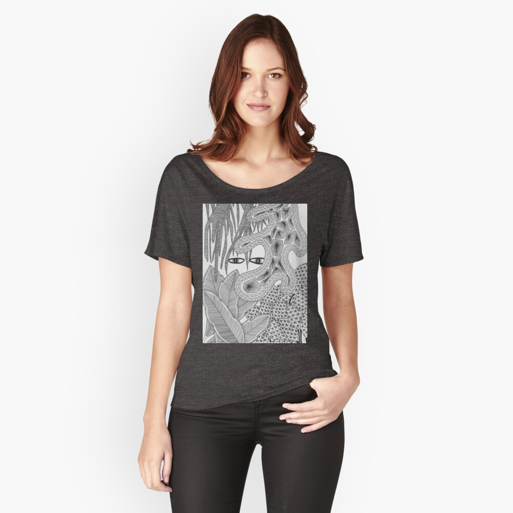 Mystic Eyes in Jungle Women's Relaxed Fit T-Shirt Front