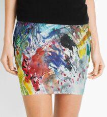 Rainbow landscape  - Original abstract watercolour by Francesca Whetnall Mini Skirt