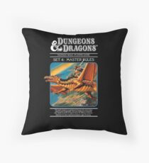 Dungeons and Dragons Master Rules black (Remastered) Throw Pillow