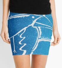 As the Crow flies - Original Collagraph by Francesca Whetnall Mini Skirt