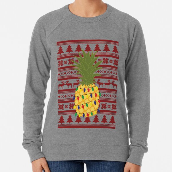 Ugly Christmas Sweater Pineapple Lightweight Sweatshirt