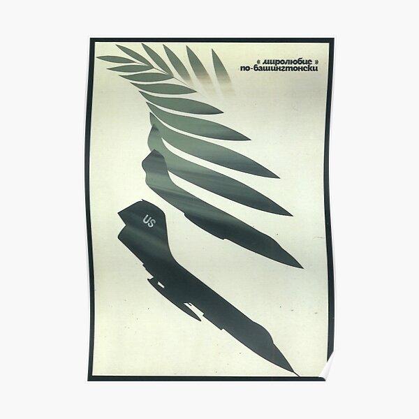 """Love and peace the Washington way"" USSR Propaganda, 1970s Poster"