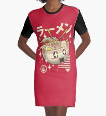Kawaii Ramen Graphic T-Shirt Dress