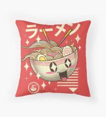 Kawaii Ramen Throw Pillow
