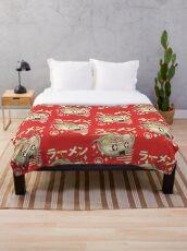 Kawaii Ramen Throw Blanket