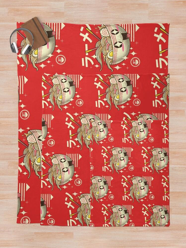 Alternate view of Kawaii Ramen Throw Blanket