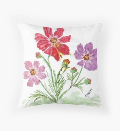 'Tis Cosmos season! Throw Pillow