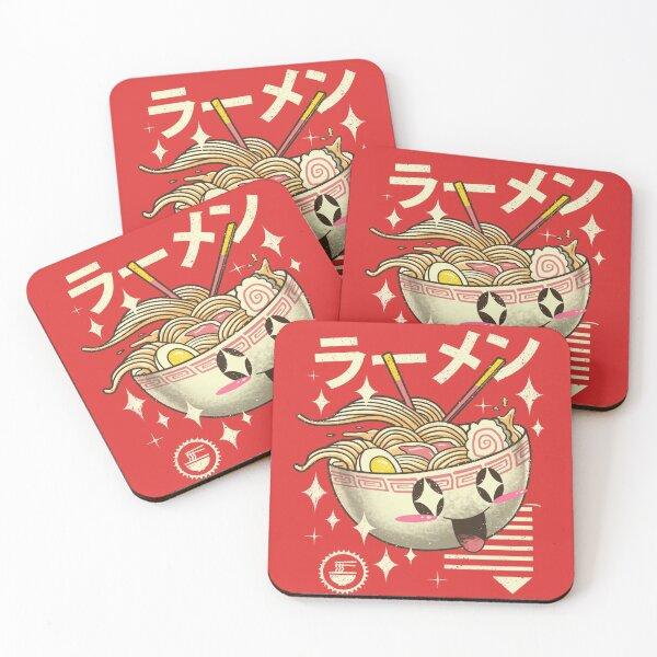 Kawaii Ramen Coasters (Set of 4)