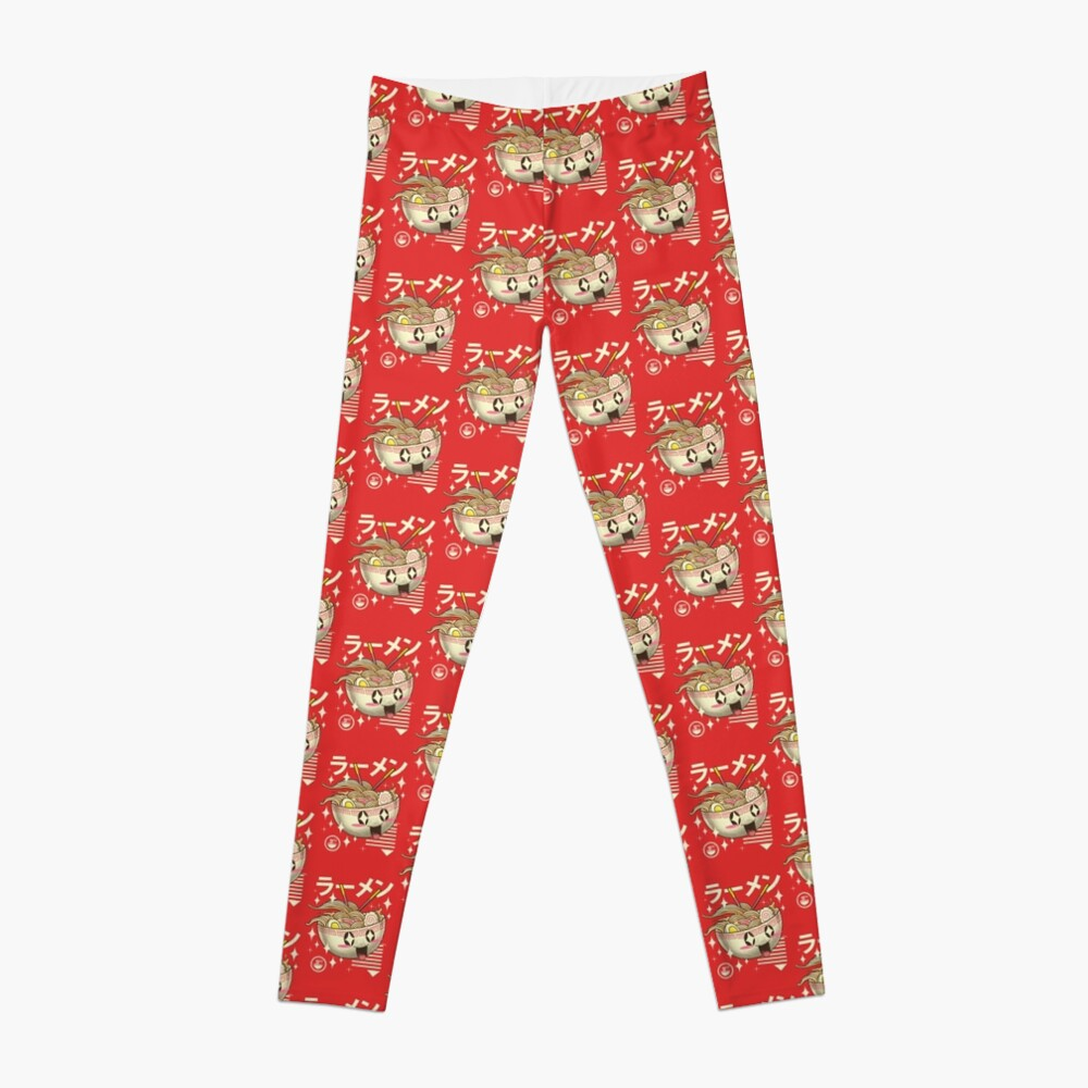 Kawaii Ramen Leggings Vorne