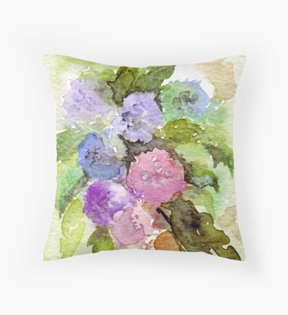 Hydrangea hortensis Throw Pillow