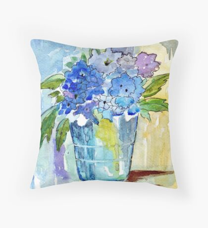 A bucketful of Summer Throw Pillow