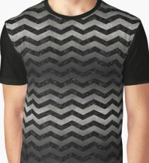 CHEVRON3 BLACK MARBLE & GRAY METAL 1 Graphic T-Shirt