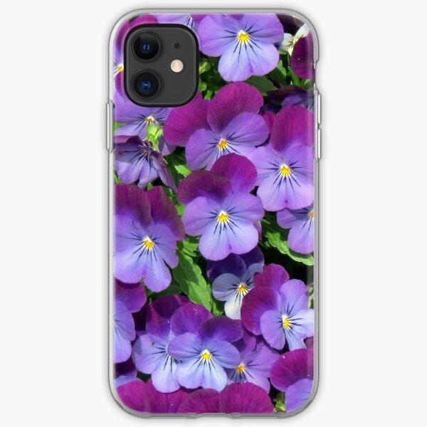 Miniature pansies iPhone Soft Case