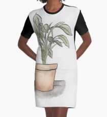 Plant Graphic T-Shirt Dress