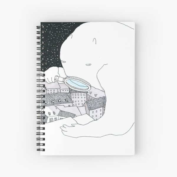 Bear with Magnifying Glass Spiral Notebook