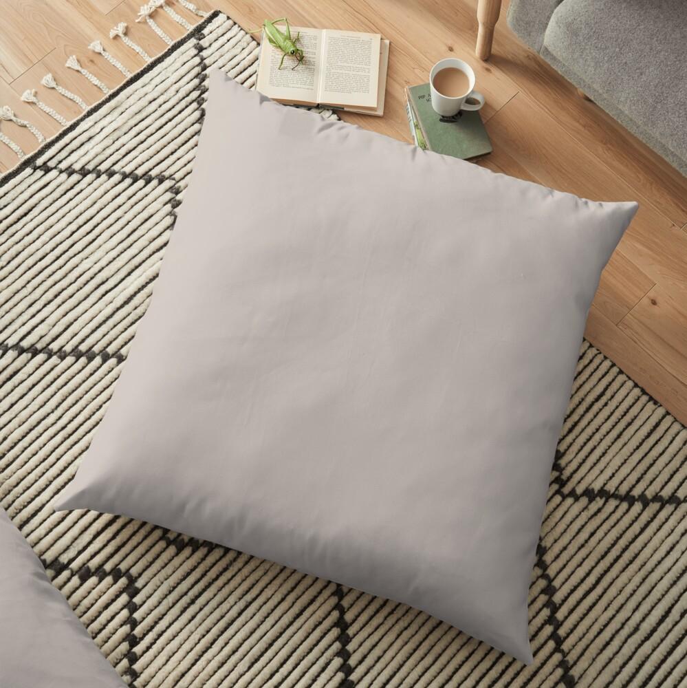 Pale Silver Floor Pillow