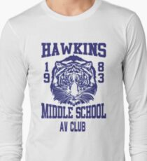 Hawkins Middle School AV Club Long Sleeve T-Shirt