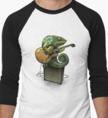 Chameleon Plays the Blues... plus a few other colors Men's Baseball ¾ T-Shirt