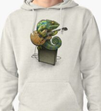 Chameleon Plays the Blues... plus a few other colors Pullover Hoodie