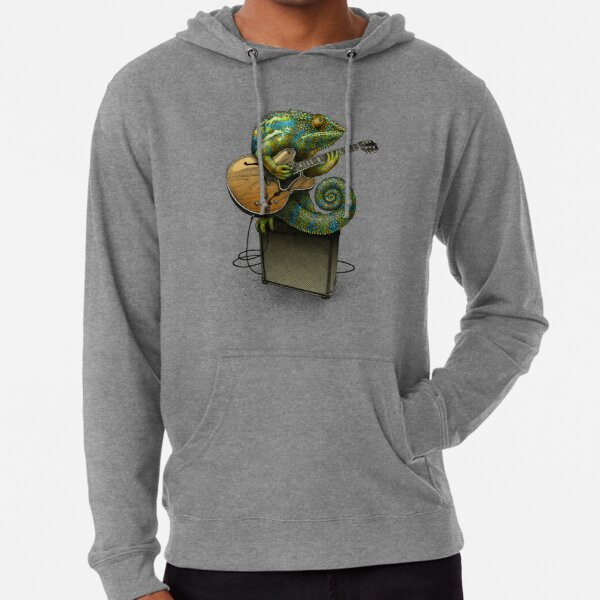 Chameleon Plays the Blues... plus a few other colors Lightweight Hoodie