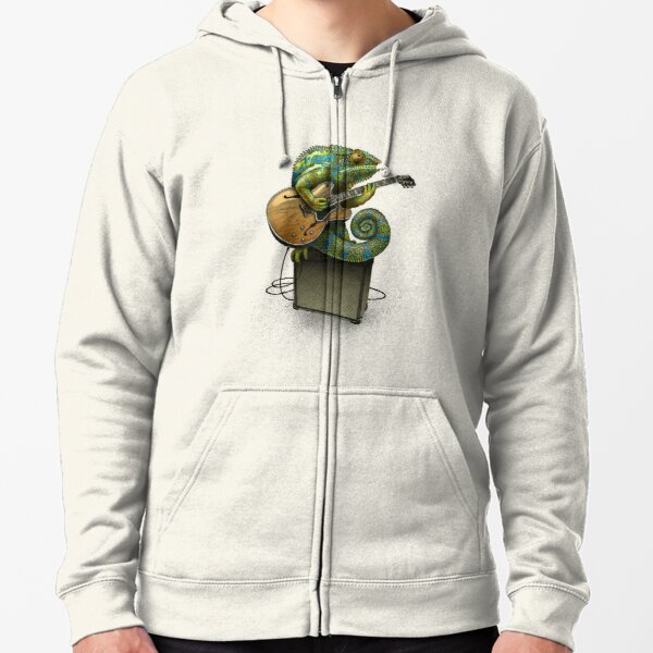 Chameleon Plays the Blues... plus a few other colors Zipped Hoodie